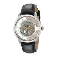 Fossil Men's ME3041 Townsman Automatic Skeleton Dial Black Leather Watch - Stainless Steel/Black