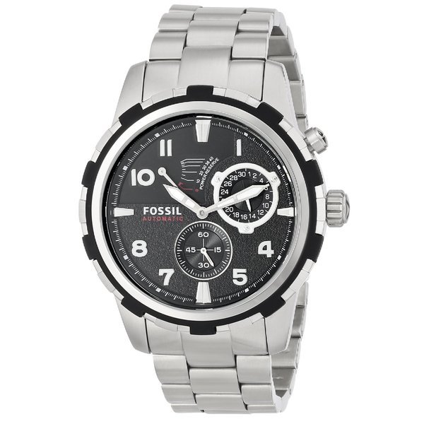 1d2a9a20884 Shop Fossil Men s  Dean  Stainless Steel Automatic Watch - silver ...