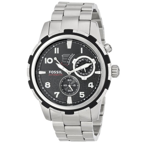 Fossil Men's 'Dean' Stainless Steel Automatic Watch - Silver