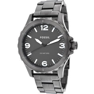 Fossil Men's JR1457 'Nate' Smoked Stainless Steel Chronograph Watch