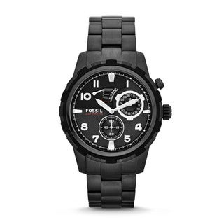 Fossil Men's 'Dean' Black Stainless Steel Automatic Watch