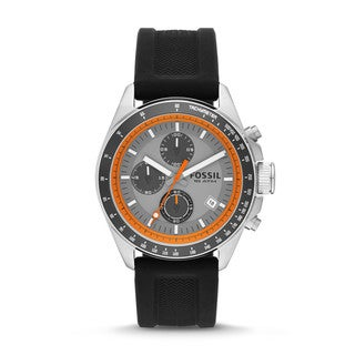Fossil Men's 'Decker' Orange/ Black Analog Watch