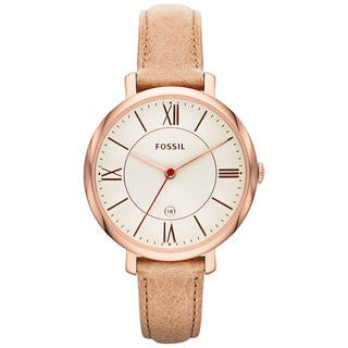 Fossil Women's 'Jacqueline' Beige Analog Watch