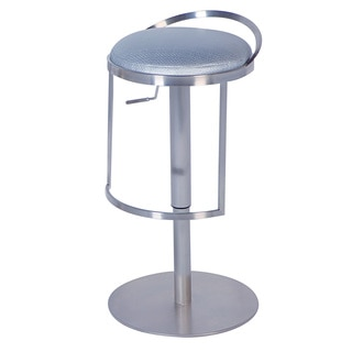 Somette Chrome/Silver Pneumatic Gas Lift Adjustable Height Swivel Stool