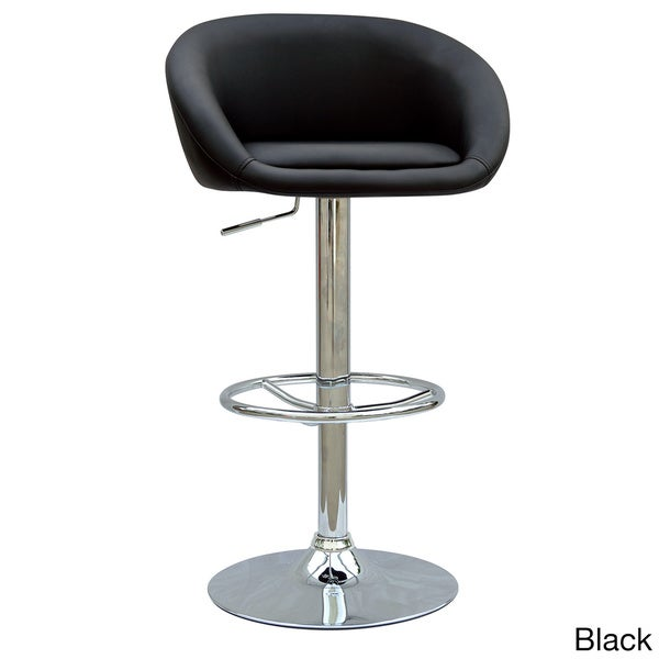Somette Chrome Pneumatic Gas Lift Adjustable Swivel Stool