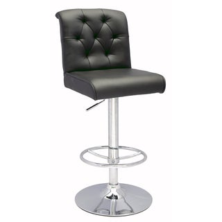 Somette Black Pneumatic Gas Lift Height Swivel Stool