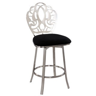 Somette Laser Cut Back Memory Swivel 26-inch Counter Stool
