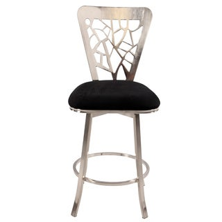 Somette Laser Cut Back 26-inch Memory Swivel Counter Stool