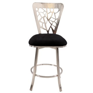 Somette 30-inch Laser Cut Back Memory Swivel Bar Stool