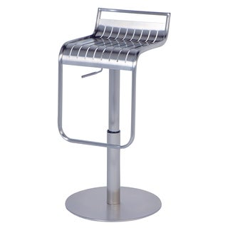 Somette Chrome Pneumatic Gas Lift Adjustable Height Swivel Stool