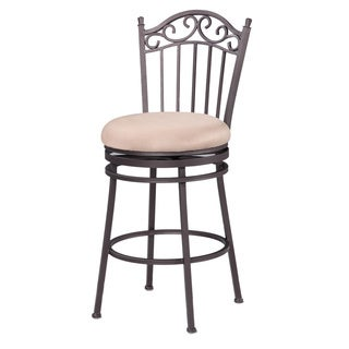 Somette Antique Taupe 26-inch Memory Return Swivel Counter Stool