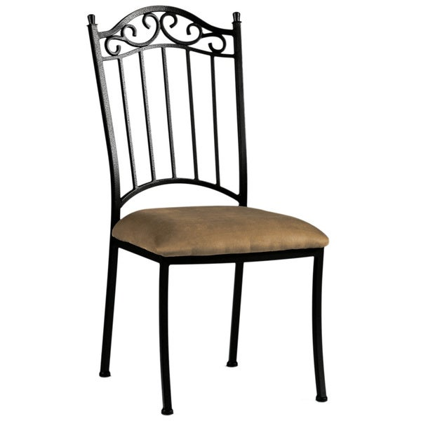 Wrought Iron Kitchen Chairs: Shop Somette Antique Taupe Suede Wrought Iron Dining Chair