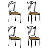Somette Antique Taupe Suede Wrought Iron Dining Chair (Set of 4)