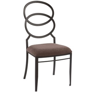 Somette Silver Black/Brown Modern Ring Back Cushioned Dining Chair (Set of 4)