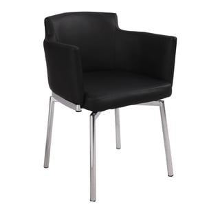 Somette Club Style Modern Swivel Arm Chair (Set of 2)