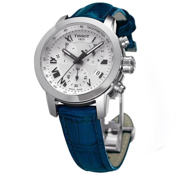 tissot s t0552171603300 blue leather quartz