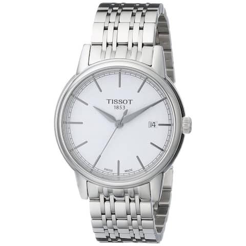 Tissot Men's T0854101101100 'Carson' White Dial Stainless Steel Watch