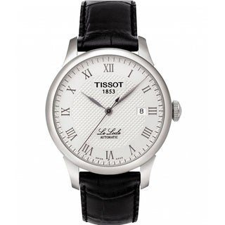 Tissot Men's T41142333 'Le Locle' Analogue Automatic Black Strap Watch