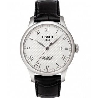 Tissot Men's T41142333 'Le Locle' Analogue Automatic Black Strap Watch