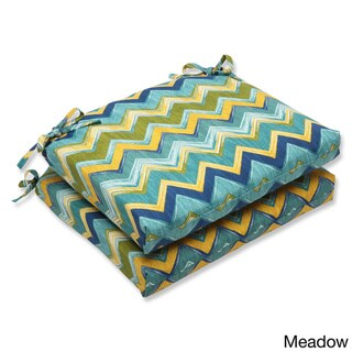 Pillow Perfect Outdoor Tamarama Squared Corners Seat Cushion (Set of 2)