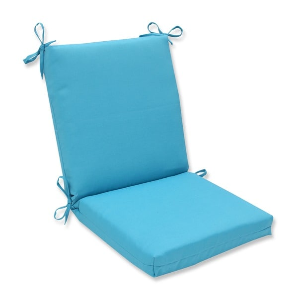 Pillow Perfect Outdoor Veranda Turquoise Squared Corners