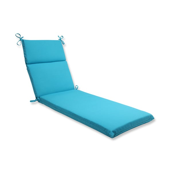 Pillow Perfect Outdoor Veranda Turquoise Chaise Lounge