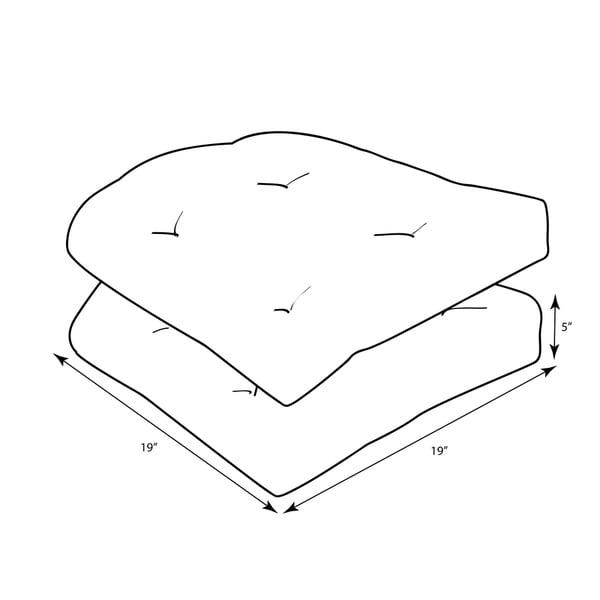 Pillow Perfect Outdoor Veranda Turquoise Wicker Seat Cushion Set of 2