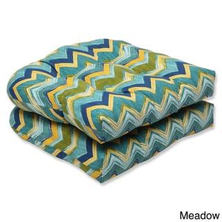 Pillow Perfect Outdoor Tamarama Wicker Seat Cushion (Set of 2)