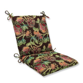 Pillow Perfect Squared Corners Chair Cushion with Sunbrella Vagabond Paradise Fabric