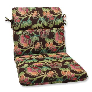 Pillow Perfect Rounded Corners Chair Cushion with Sunbrella Vagabond Paradise Fabric