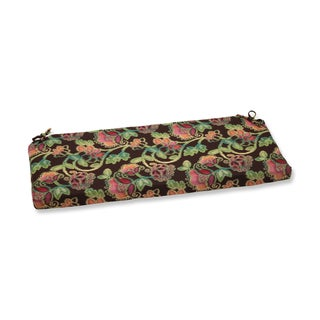 Pillow Perfect Bench Cushion with Sunbrella Vagabond Paradise Fabric