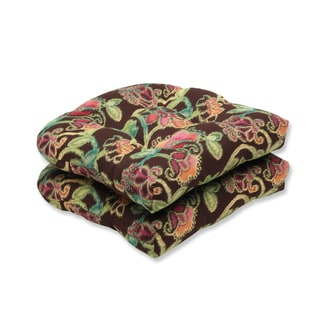 Pillow Perfect Wicker Seat Cushion with Sunbrella Vagabond Paradise Fabric (Set of 2)