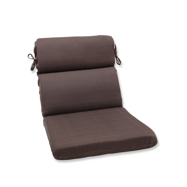 Pillow perfect outdoor brown rounded corners chair cushion for Home goods patio furniture cushions