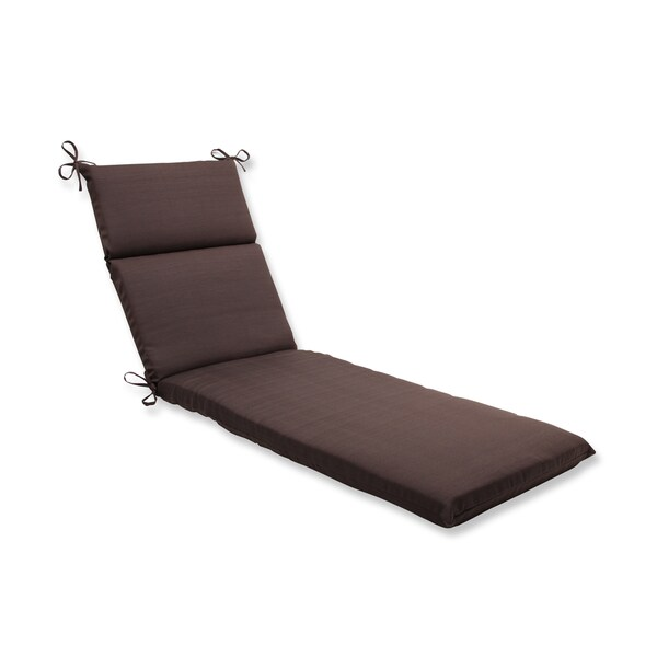 Pillow perfect outdoor brown chaise lounge cushion free for Brown chaise lounge outdoor