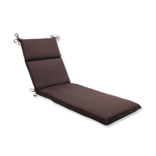 Pillow Perfect Outdoor Brown Chaise Lounge Cushion