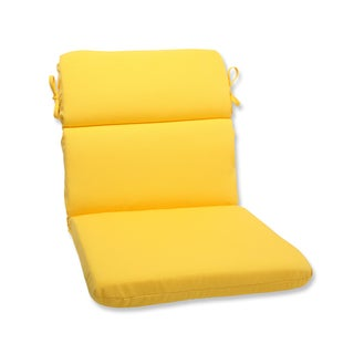 Pillow Perfect Outdoor Yellow Rounded Corners Chair Cushion