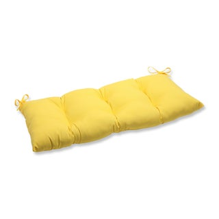 Pillow Perfect Outdoor/ Indoor Fresco Yellow Swing/ Bench Cushion
