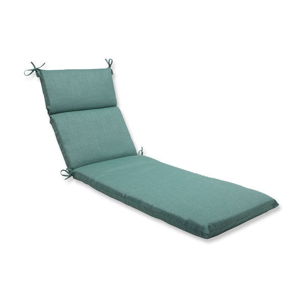 Pillow perfect outdoor green chaise lounge cushion free for Chaise cushion sale
