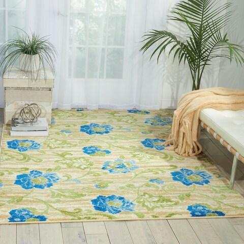 "Waverly Aura of Flora Refresh Capri Area Rug by Nourison - 7'9"" x 9'9"""