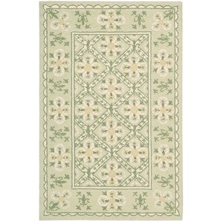 Nourison Country Heritage Green Rug (3'6 x 5'6)
