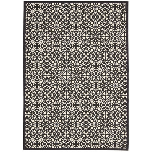 Indoor Outdoor Rugs Black And White: Shop Nourison Home And Garden Indoor/Outdoor Black-White