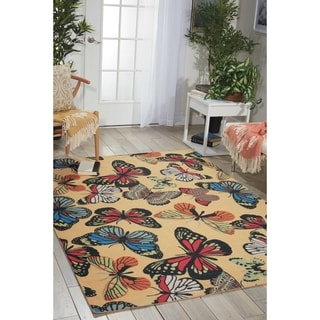 Nourison Home & Garden RS018 Butterfly Indoor/Outdoor Area Rug
