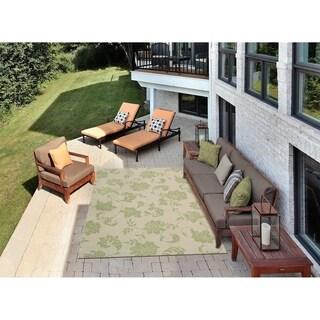 """Nourison Home and Garden Indoor/Outdoor Green Rug (5'3"""" x 7'5"""") - 5'3 x 7'5"""