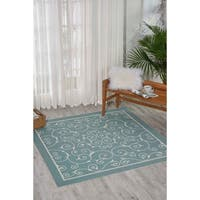 Nourison Home and Garden Indoor/Outdoor Light Blue Rug
