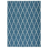Nourison Navy Indoor/ Outdoor Rug (5'3 x 7'5) - 5'3 x 7'5