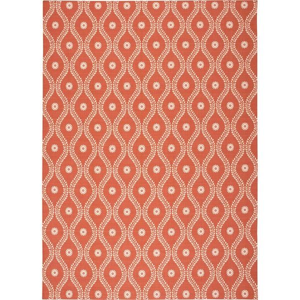 Nourison Home and Garden Indoor/Outdoor Rust Rug - 7'9 x 10'10