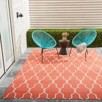 Nourison Home & Garden Indoor/Outdoor Orange Rug - 7'9 x 10'10