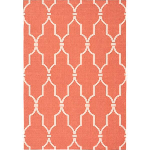 Nourison Home & Garden Indoor/Outdoor Orange Rug - 10' x 13'
