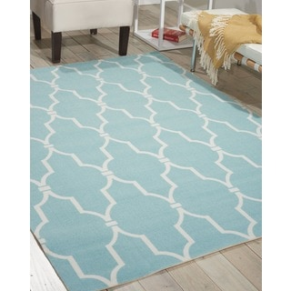 "Nourison Home & Garden Indoor/Outdoor Aqua Rug (7'9"" x 10'10"")"