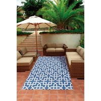 Nourison Home and Garden Indoor/Outdoor Navy Rug - 7'9 x 10'10